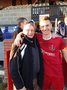 Jason with Norman who played for the Wells 60 years ago....thanks to @elbowe